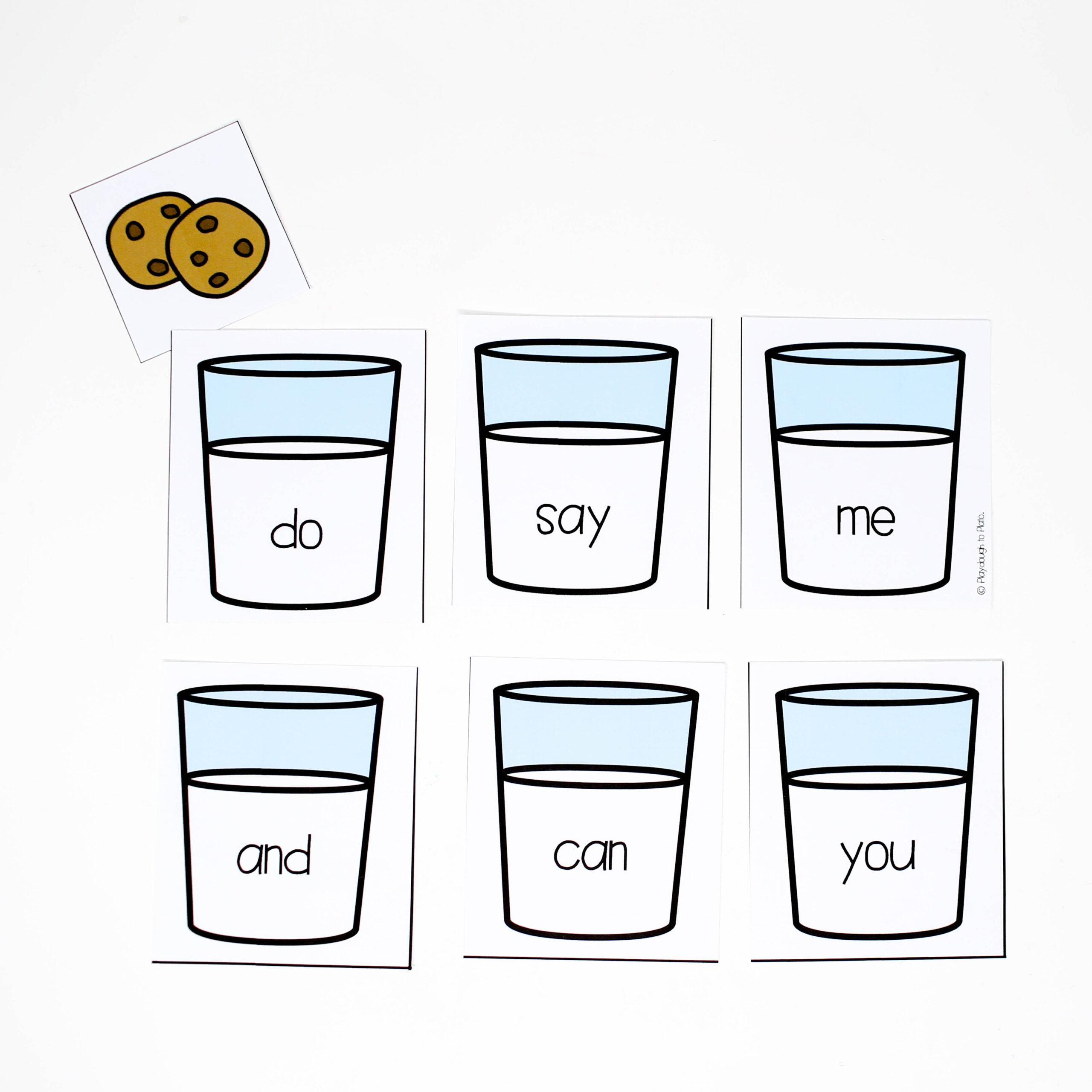 Editable Cookie Hide and Seek Sight Word Game