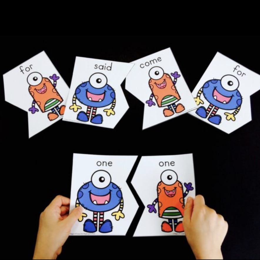 Monster Sight Word Puzzles