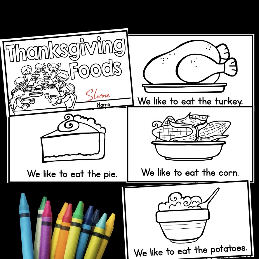 Thanksgiving Foods Book
