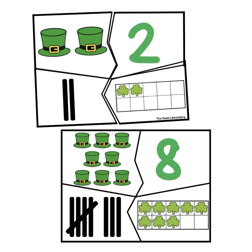 St Patrick's Day Number Puzzles