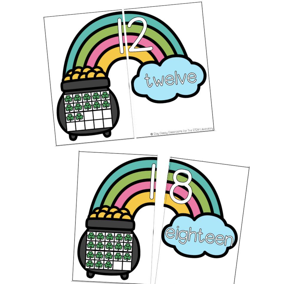 Teen Number Rainbow Match