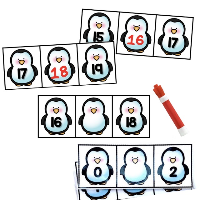 Penguin Write and Wipe Numbers