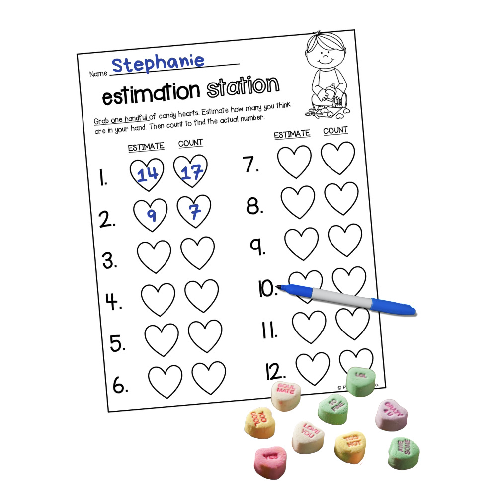 Candy Heart Estimation Station