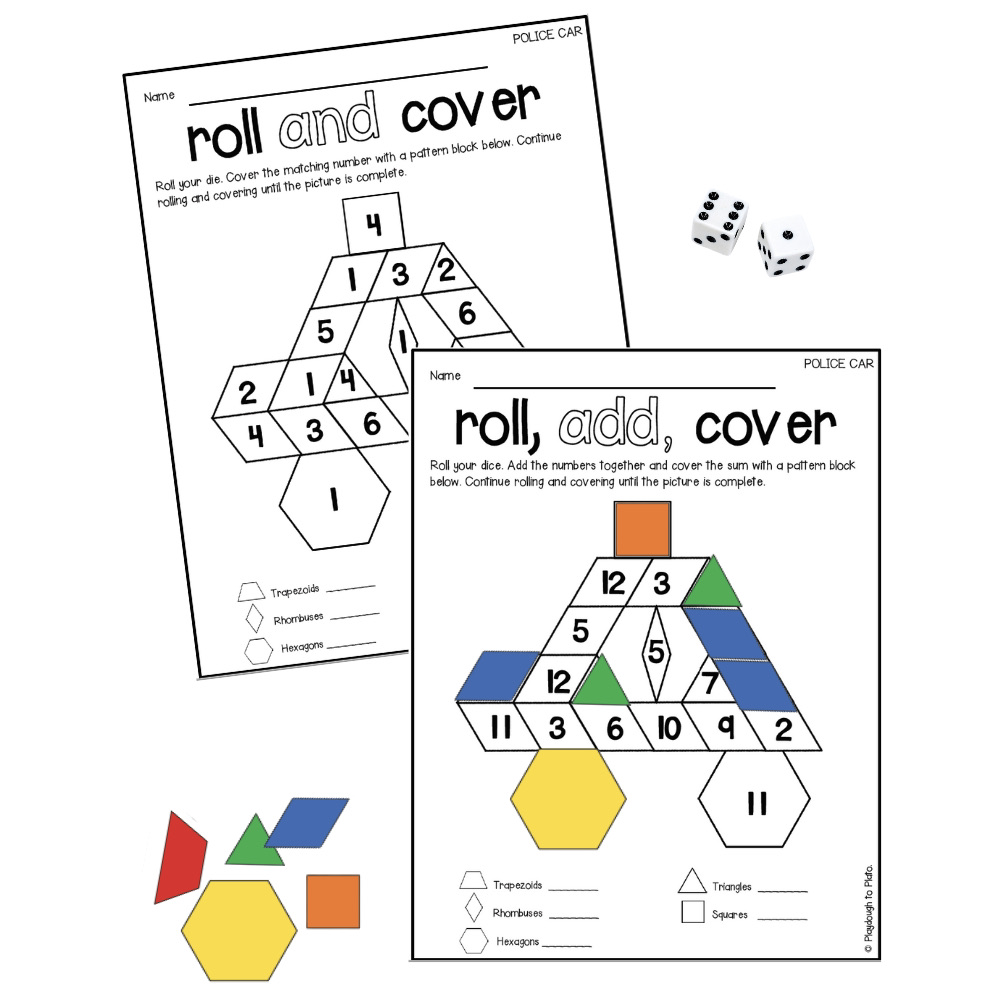 Community Helper Pattern Block Mats