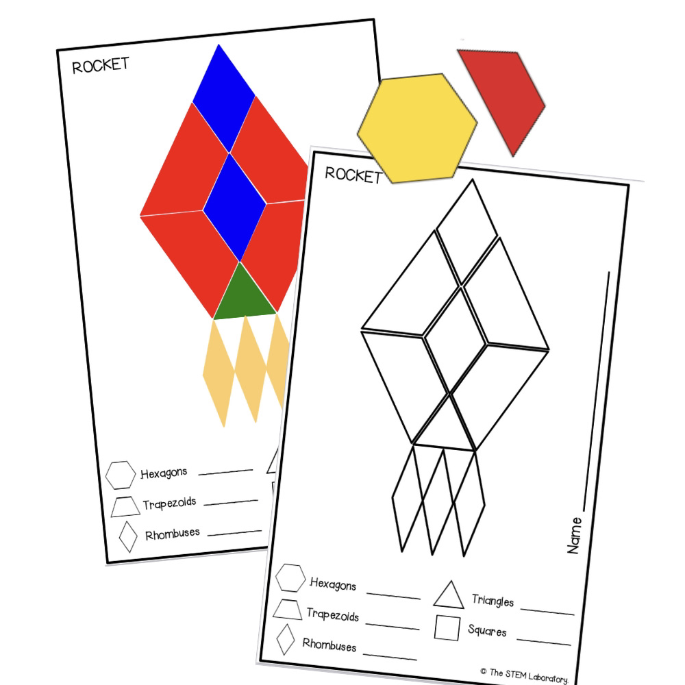 Outer Space Pattern Block Mats