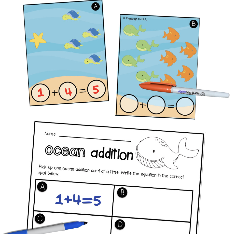 Ocean Write and Wipe Addition Cards