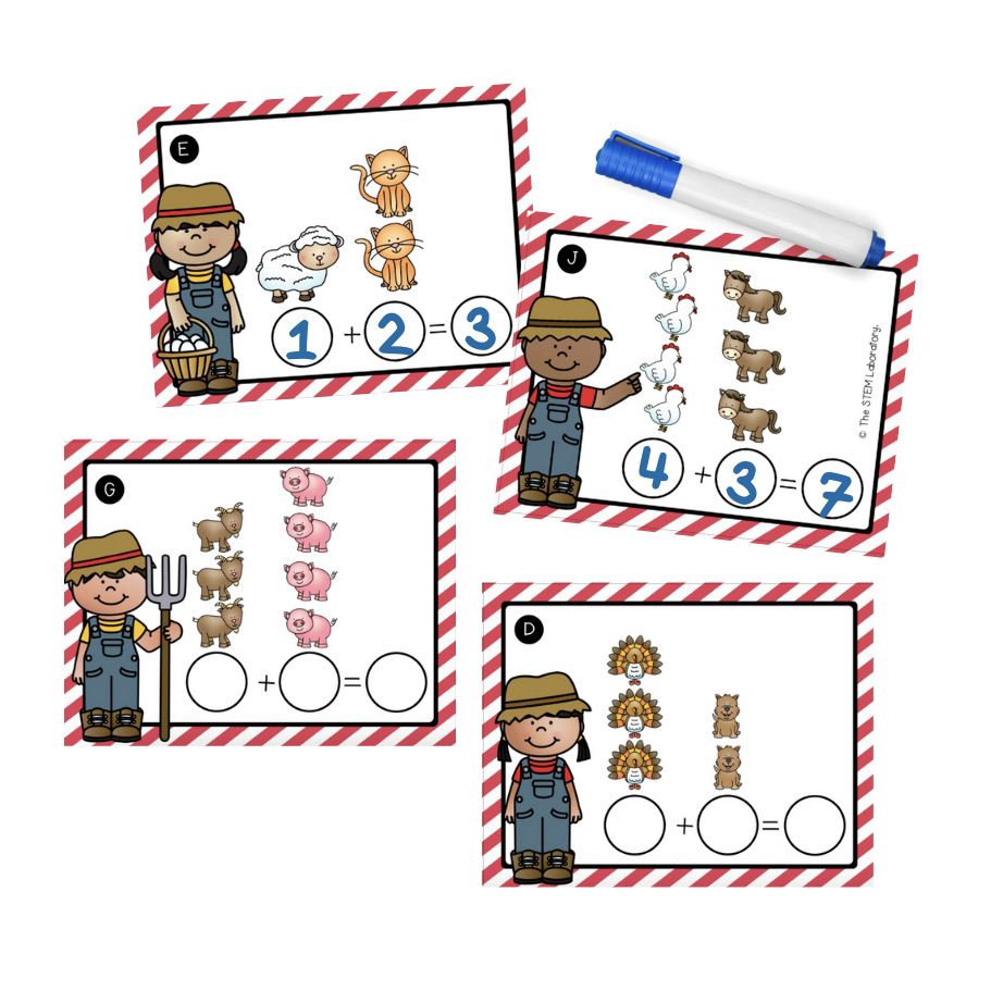 Write and Wipe Farm Addition Cards