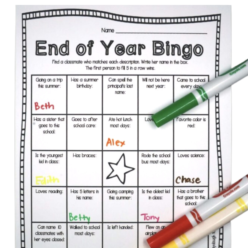 End of the Year Bingo