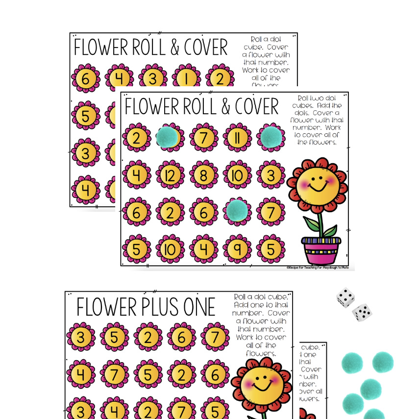 Flower Roll and Cover Game