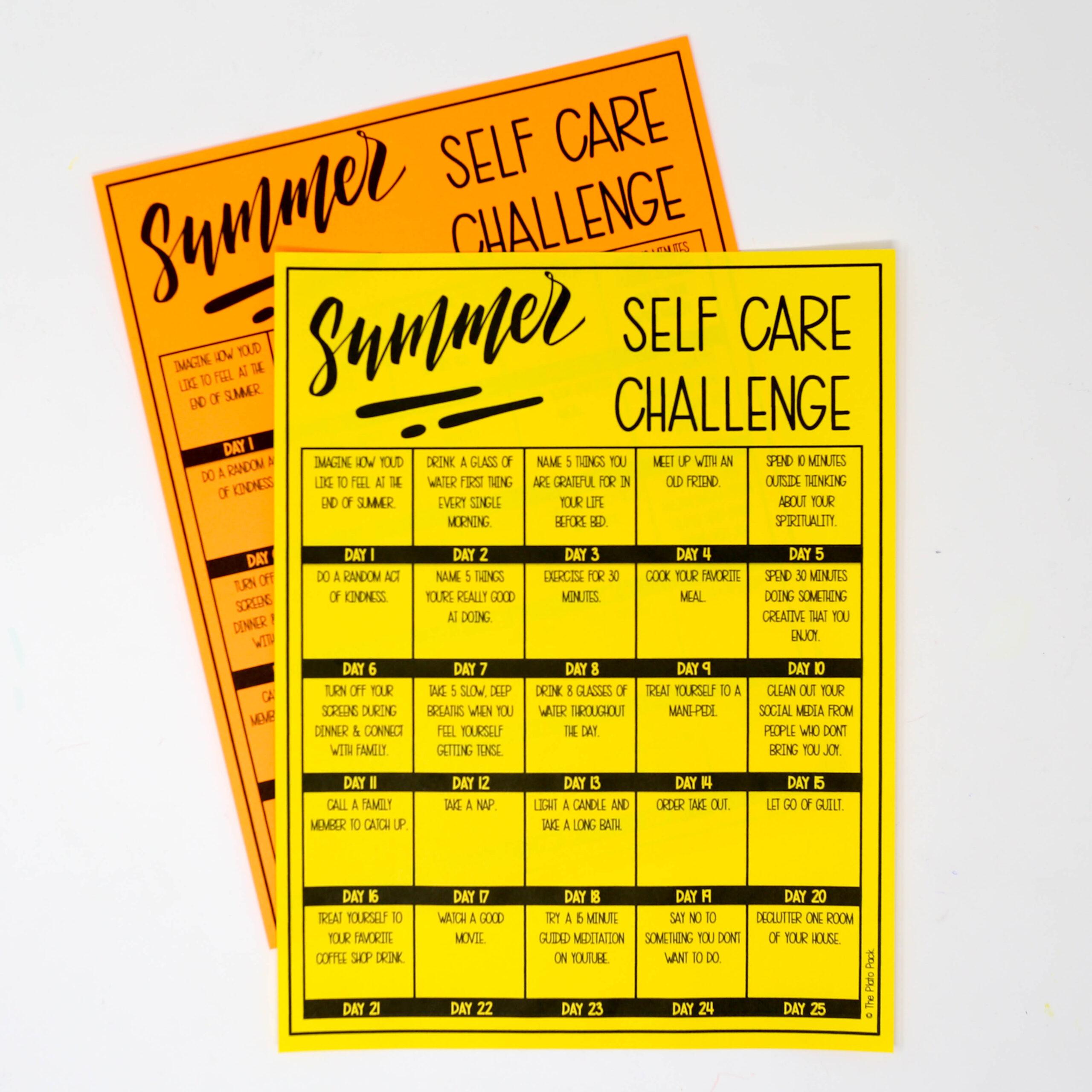 Summer Self Care Challenge