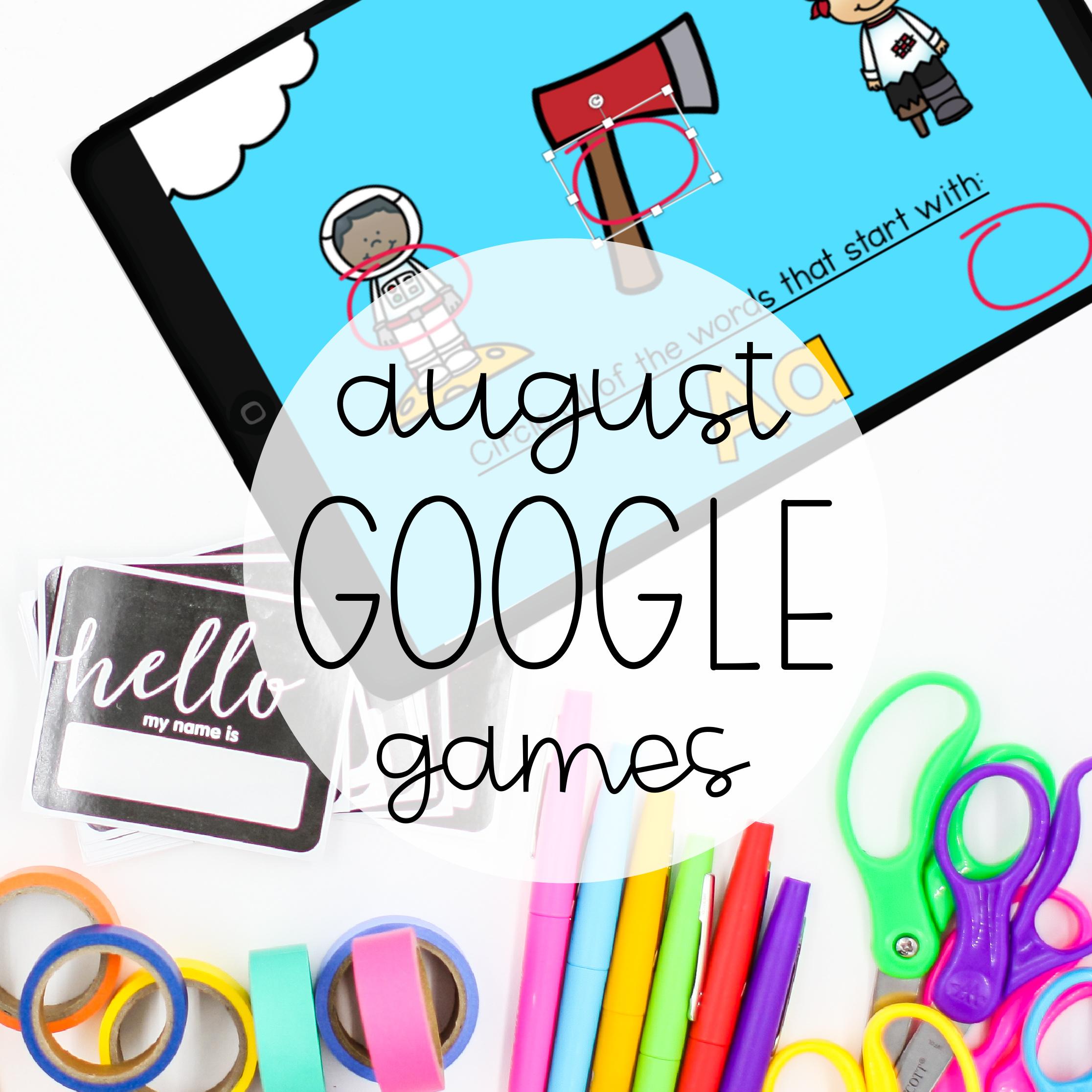 August Google Games