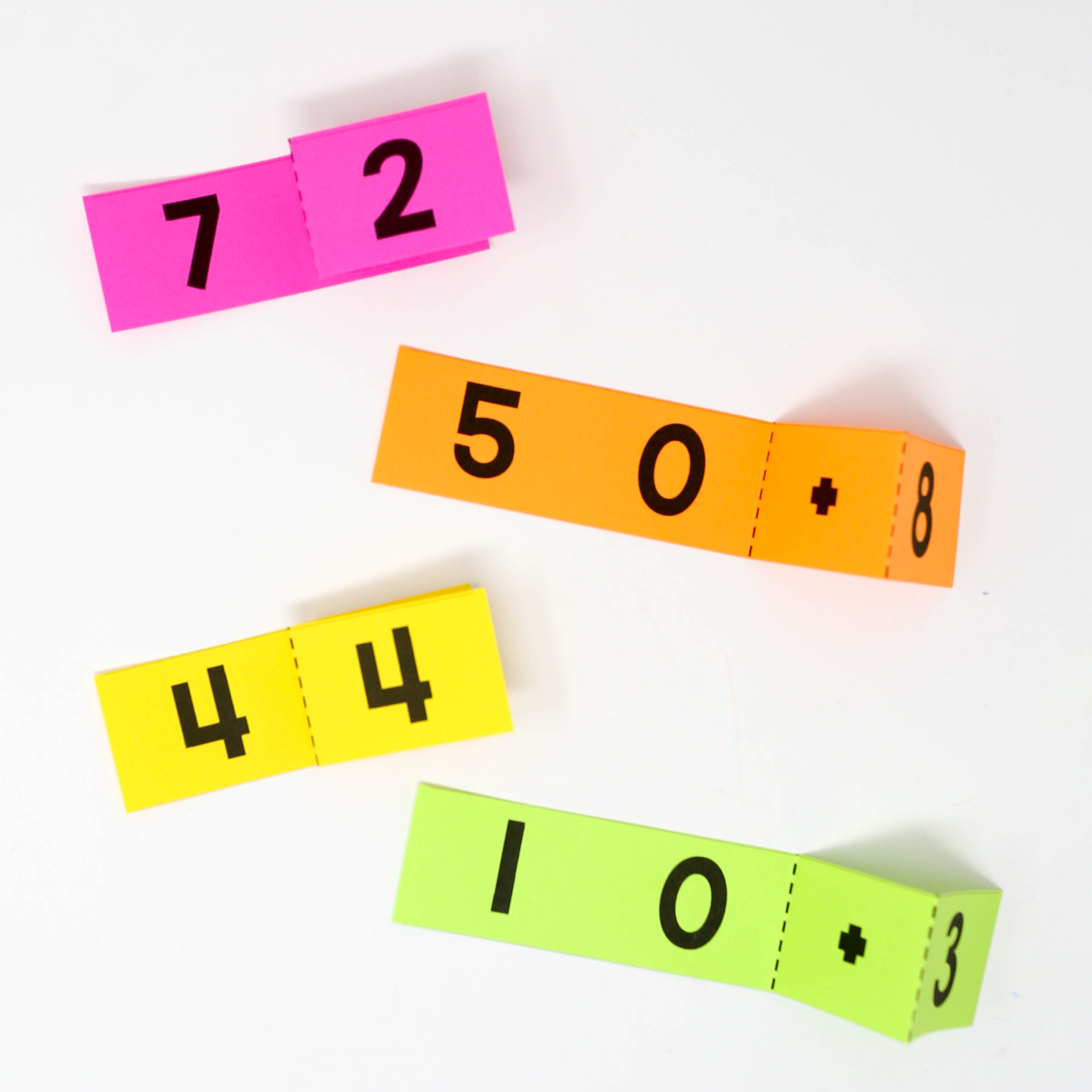 Two-Digit Foldables